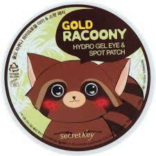 Патчи для век 60+30, Secret Key Gold Racoony Hydro Gel Patch