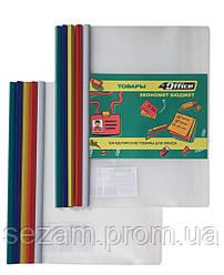Папка-файл з бічн. планкою-затиском, 10 мм (65 арк.), А4, РР, 4-250, 4Office