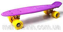 FISH Скейт Скейтборд ORIGINAL 22 PENNY Фиолетовый, Колеса желтые