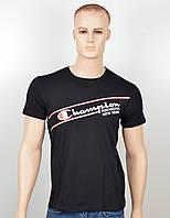 """Мужская футболка """"Champion"""" черный, фото 1"""