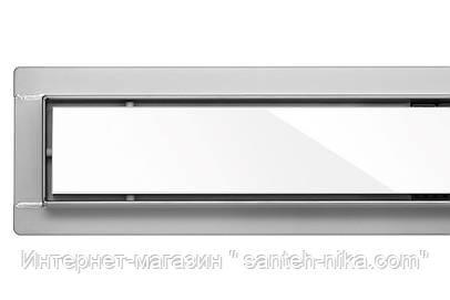 Линейный трап для душа Fala Poland WHITE GLASS 80 CM WET&DRY белое стекло (сухой и мокрый 2в1)