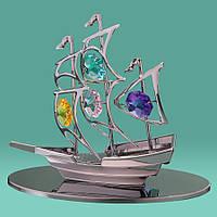 """Фигурка """"Парусник"""" Crystocraft с кристаллами Swarovski, 0047-001 SL"""