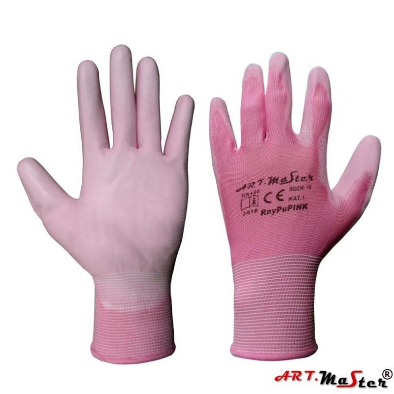 Перчатки Rnypu Pink с полиуретановым покрытием, розового цвета, ARTMAS, р.8