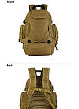 Рюкзак тактический, походной, штурмовой, туристический, военный Protector Plus S427 40л +слинг подсумок, фото 2