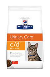 Hill's PD Feline C/D-0.4кг Ограничевает образование струвитных камней и кристаллов у кошек(курица)