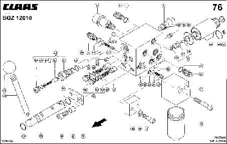 ПРЕДОХРАНИТЕЛЬНЫЙ КЛАПАН - CLAAS VARIANT 280 / 280RC