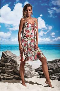 Літня сукня сарафан з принтом без рукавів та довжиною до колін Miss Marea 18499