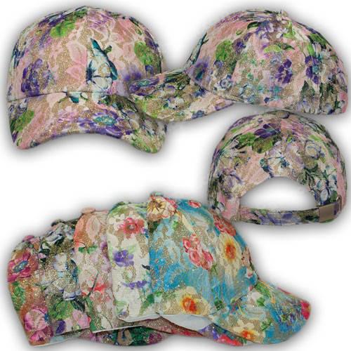 Разноцветные кепки для девочек, р. 50-52