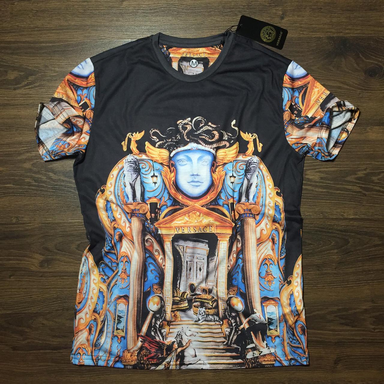 0cf8e7f77098 Мужская Футболка Versace | Чоловіча футболка Версаче (реплика) - Интернет  Магазин