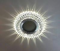 Декоративный встраиваемый светильник Feron 7314 3W MR16 с LED  подсветкой (15LED 2835SMD 4000K)