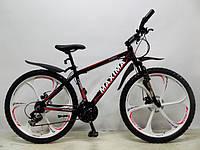 Велосипед Maxima Tommy 26 дюймов цвет черный/белый
