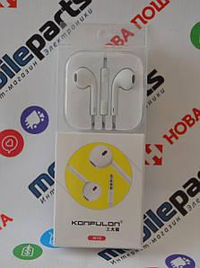 Наушники Konfulon Earphone ( iN15 ) (Белые)