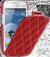 Чехол-флип Vetti Craft для Samsung Galaxy S Duos S7562 Красный