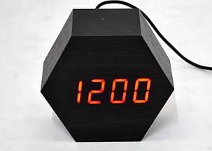 Настольные часы с красной подсветкой VST-876-1, фото 2