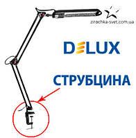 Настольная лампа на струбцине черная DELUX TF-01