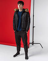 Осенне-весенняя японская куртка мужская 9991 черный, фото 1