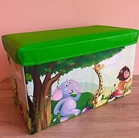 Сундуки - пуфики для игрушек. Или как приучить ребенка к порядку.