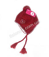Малинова шапка на флісі 46-50см