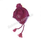 Фиолетовая шапка на флисе 46-50см