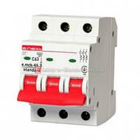 Трёхфазный автоматический выключатель 3р, 63А, C, 3,0 кА, e.mcb.stand.45.3.C63 автомат трехполюсный 63А