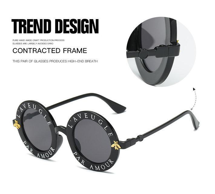 4f533caa0899 Модные солнцезащитные очки круглые L aveugle Par Amour 2018  продажа ...