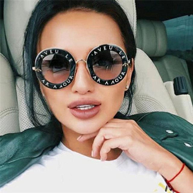 c60d319f4db9 Модные солнцезащитные очки круглые L aveugle Par Amour 2018 - Остров  Сокровищ магазин подарков,