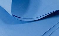 Зефирный Фоамиран Синий, 50x50 см, 1 мм, Китай