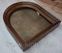 Киот для арочной иконы, с внутренней деревянной рамой., фото 3