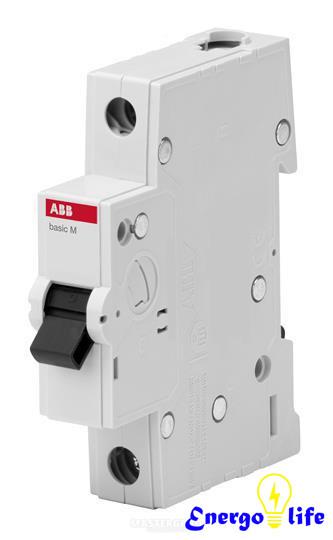 Выключатель автоматический ABB Basic M 1pol  C6A, предотвращающий скачки напряжения в сети, BMS411C06