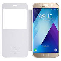 Кожаный чехол (книжка) Nillkin Sparkle Series для Samsung A720 Galaxy A7 (2017) Белый