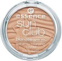 Essence пудра компактная бронзирующая sun club shimmer bronzing powder, фото 1