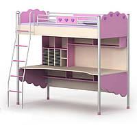 Кровать+стол Pn-16-1 Pink