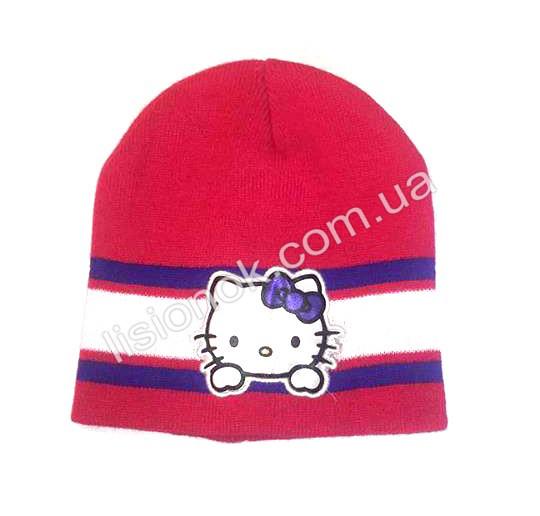 Малинова шапка Hello Kitty 50-54см