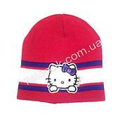Малиновая шапка Hello Kitty 50-54см