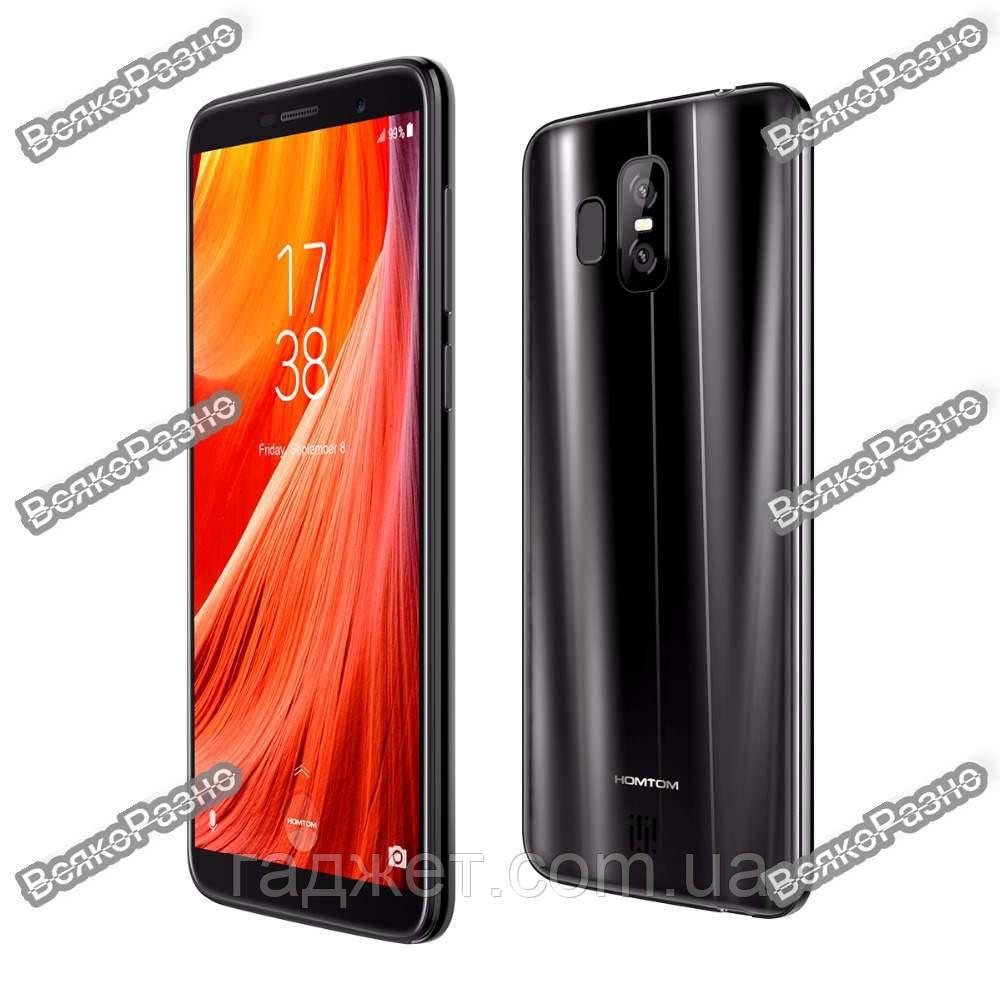 Смартфон HomTom S7. Смартфон Homtom S7 черного цвета Андроид 7.0 MTK6737 сканер отпечатков пальцев.