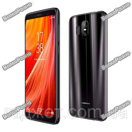 Смартфон HomTom S7. Смартфон Homtom S7 черного цвета Андроид 7.0 MTK6737 сканер отпечатков пальцев. , фото 2