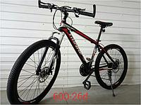 Спортивный велосипед topRider-600 26 дюймов цвет черно-красный