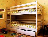 """Кровать двухъярусная детская подростковая от """"Wooden Boss"""" Денис Плюс (спальное место 70х140)"""