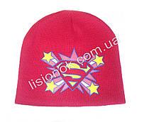 Малиновая шапка Super-Girl 50-54см