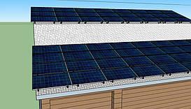 Макет расположения солнечных панелей
