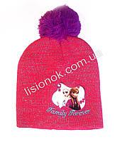 Розовая шапка Холодное сердце (Анна и Эльза) 48-52см