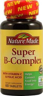 Nature Made витамины группы В + С , высокое содержание  60 капс