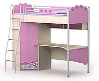 Кровать+стол+шкаф Pn-16-2 Pink