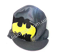Вязанная шапка с козырьком Бэтман 50-54см, фото 1