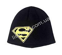 Вязанная шапка Супер-мен 48-52см