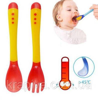 Детская посуда с индикатором температуры, набор для кормления детей