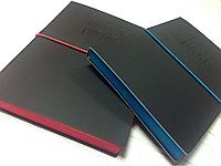 Блокнот на резинке с цветным торцом , фото 1