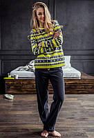 Піжама Key LHS 987 B7 жіноча (кофта, штани) фліс
