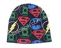 Вязанная шапка Супер-герои 50-54см