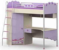 Кровать+стол+шкаф Pn-16-2 Pink + ящик выдвижной Pn-18-1